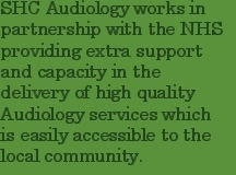 SHC Audiology works in  partnership with the NHS